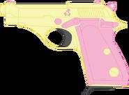 Fluttershy s beretta m70 pistol by stu artmcmoy17-d9f20xe