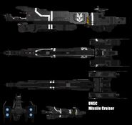 Halo unsc missile cruiser by adimatters-d3jv1r3
