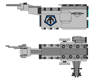 Mandalorian command cruiser by jedimsieer