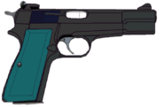 Changling browning hi power pistol by stu artmcmoy17-d938d04