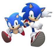 Modern Sonic & Classic Sonic