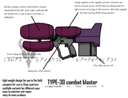 Type 30 combat blaster by the chaos theory