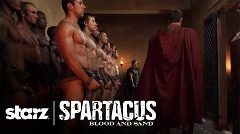 Spartacus Blood and Sand - Glaber Demands a Demonstration STARZ