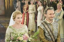 Reign Wedding of Greer and Lord Castleroy1