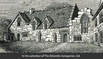 Cumnor Place West Side of Quadrangle 1850-650x375