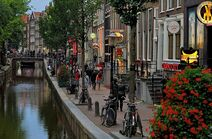 Red-light district of Amsterdam by day. 2012