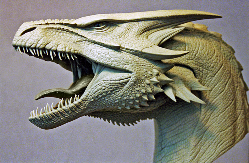 image maquette of the female dragon s head sculpted by miles
