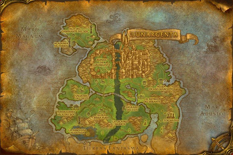 Mapa Reinos Del Este.Reinos Del Este Bosque Cancion Eterna Reino De La Tierra