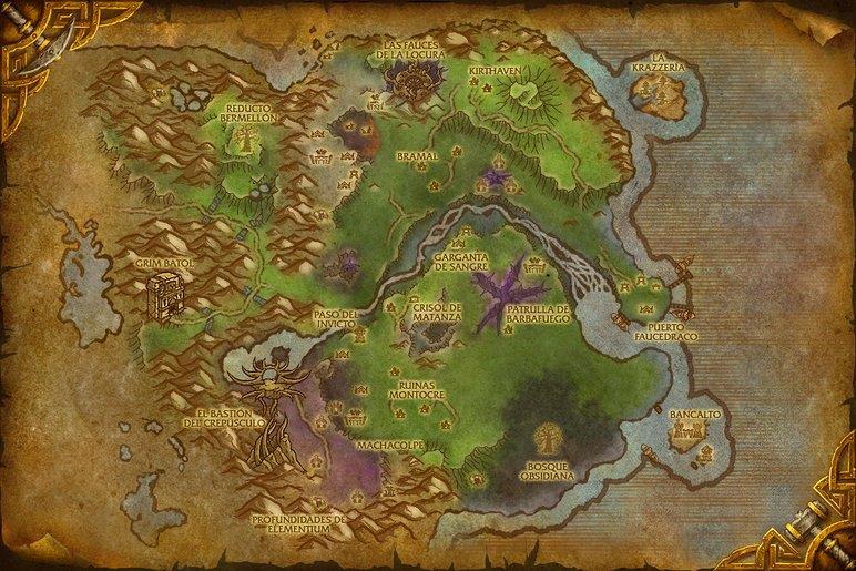 Mapa Reinos Del Este.Reinos Del Este Tierras Altas Crepusculares Reino De La