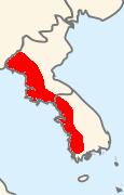 Pelophylax chosenicus map