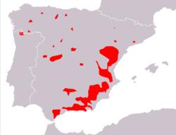 250px-Capra pyrenaica range Map