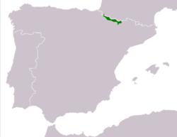 250px-Rana pyrenaica range Map