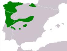 240px-Rana iberica range Map