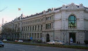 Banco Central da Espanha em Madrid