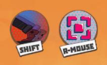 Dash and aim icon