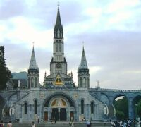 Cathedral in Lourdes Summer