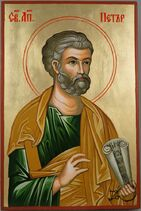 Saint St Apostle Peter Hand-Painted Orthodox Icon 1 1