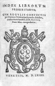 Index Librorum Prohibitorum 1