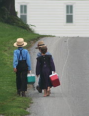 Amish On the way to school by Gadjoboy2
