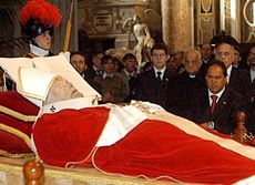 Body of John Paul II Daniel Scioli