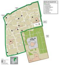 Jerusalem Muslim Quarter map
