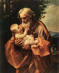 St Joseph with the Infant Jesus by Guido Reni, c 1635