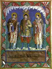 Karl 1 mit papst gelasius gregor1 sacramentar v karl d kahlen