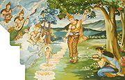Birth of Buddha at Lumbini