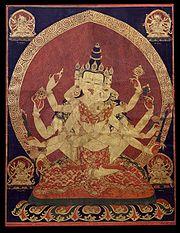 17th century Central Tibeten thanka of Guhyasamaja Akshobhyavajra, Rubin Museum of Art