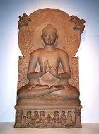 Buddha in Sarnath Museum (Dhammajak Mutra)