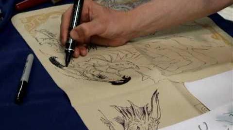 Aleksi Briclot draws a Dragon