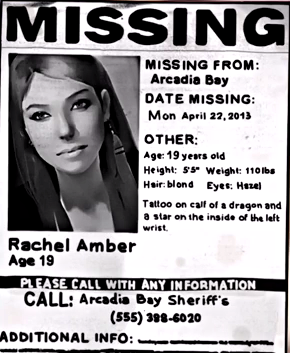 File:Rachel Amber Missing Person Poster.png  Lost Person Poster