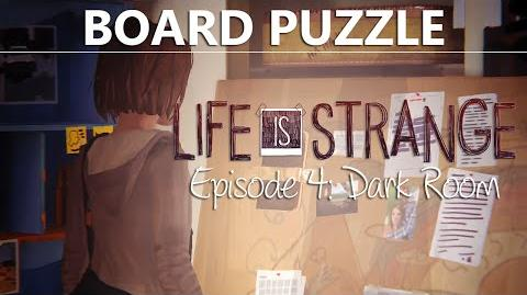 Life Is Strange Episode 4 BOARD PUZZLE Answers Clues Investigation Dark Room