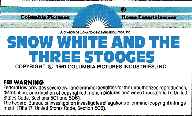 File:Snow White and the Three Stooges 1979 VHS Sticker Label 1C.png