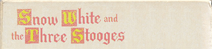 Snow White and the Three Stooges 1981 VHS Cover Art Side 5