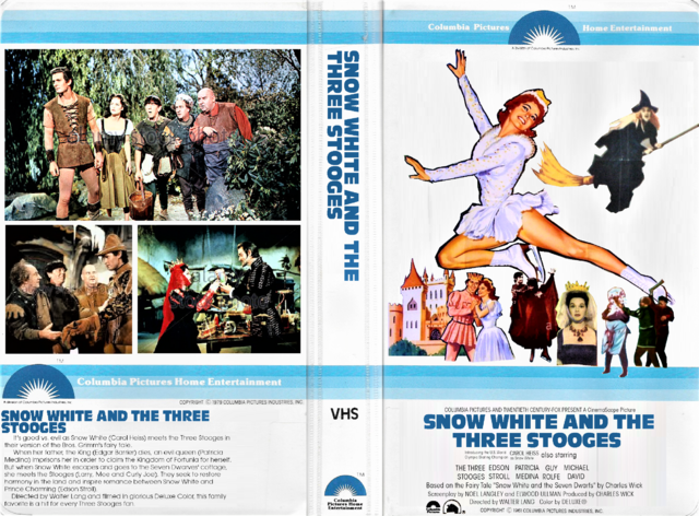 File:Snow White and the Three Stooges 1979 VHS Cover Art (CPHE Columbia Pictures Home Entertainment Clamshell).png