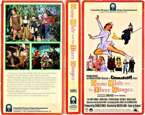 File:' Snow White and the Three Stooges 1981 VHS Cover Art (Side