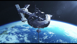 KaibaCorp space station