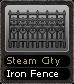 Steam City Iron Fence