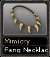 Mimicry Fang Necklace