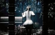 Celeste on a swing