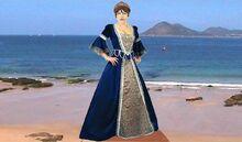 Molly blue dress beach