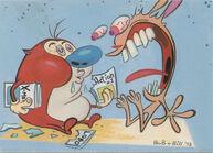 Stimpy eats the comics