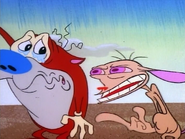 Ren threatens to disrespect Stimpy if he puts the letter in the box