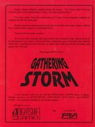 Gathering storm back cover