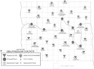 Shannedam County Map