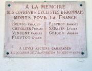 Dijon Gedenkplaat Coureurs