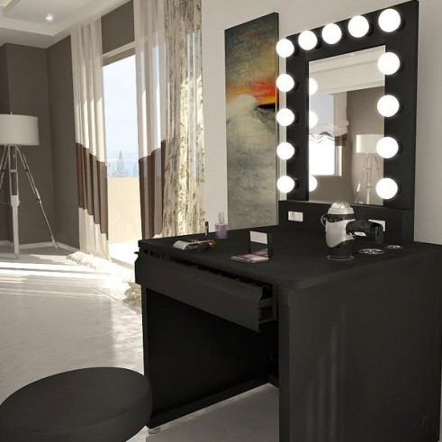 Kim Kardashian Dash Nyc Vanity Girl Desk Makeup Mirror 4 491x491