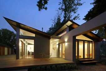 Night-View-Kyneton-House-Design-with-Dynamic-Double-Skillion-Roofs-by-Marcus-O'Reilly-Architects