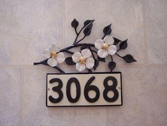 Dogwood House Numbers